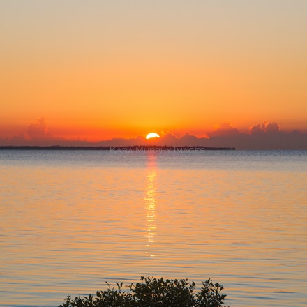 Sunrise over the bay.