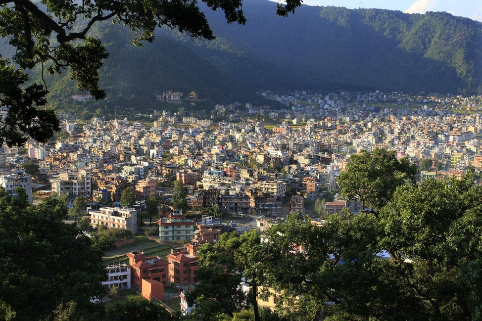 Kathmandu valley view from the Monkey Temple