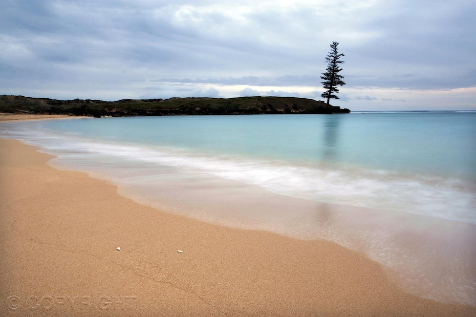 Norfolk Island - Slow motion picture of Norfolk Island shoreline by Cathy Finch Photography.
