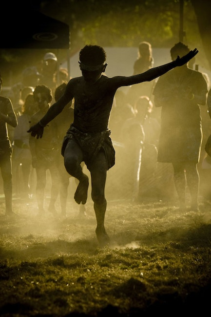 silhouette boy dancing - As the sun goes down in Cape York, more than 20 indigenous communities come together to dance up some deadly shake-a-leg, swirling...