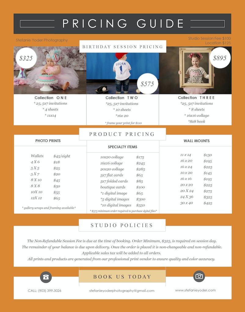 2017 birthday pricing
