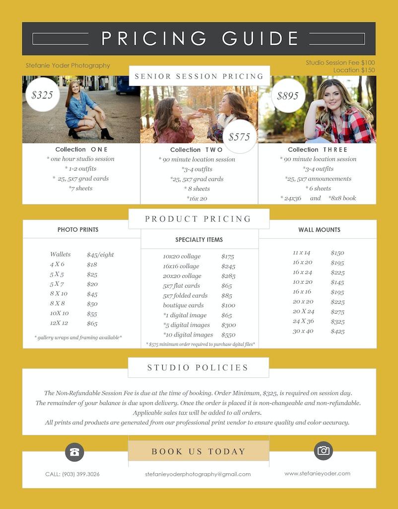 2017 senior pricing