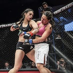 Brace 36 - Jess Doueihi Vs Janay Harding - Photo taken from Brace 36 semi final held on 19th September at Luna Park Sydney.