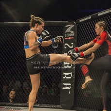 Wimp 2 Warrior Finale S5 Fight 4 Maria Mageropoulos vs Michelle Nunure - Photos taken from the Wimp 2 Warrior series 5 finale at Luna Park's Big Top in...
