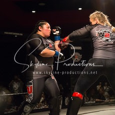 Jessie Skillen vs Lena Cristina Baneulos Wimp 2 Warrior Finale VT1 - Photos taken from the Wimp 2 Warrior Finale VT1 at Norths Cammeray in Sydney on the...