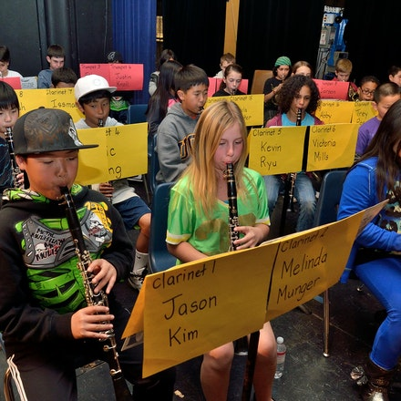 SDUSD Elementary Honor Band - Candid rehearsal and performance pictures from the San Diego Unified School District's Elementary School Honor Band and Orchestra....
