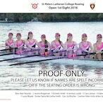 St Peters Rowing Crews 2016
