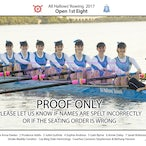 All Hallows Rowing Crews 2017