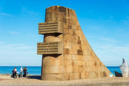 D Day Memorial Omaha Beach - Omaha Beach or Saint-Laurent-sur-Mer the site of the landings on 6th June 1944