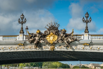 Russian Coat of Arms on Pont Alexandre III - 9785