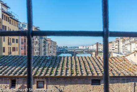Ponte Vecchio from inside the Vassari Corridor - 3401