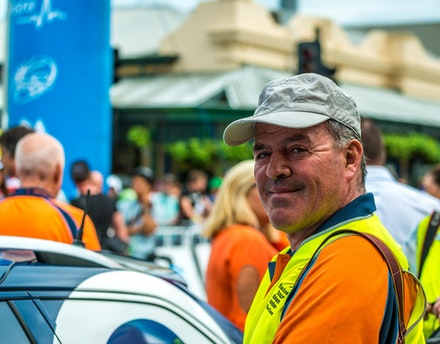 2014 Graham Watson at Tour Down Under - Famous cycling photograher Graham Watson
