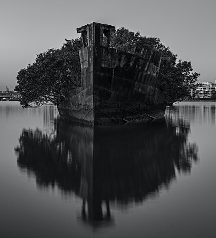 025 SS Aryfield Wreck Homebush 040715-8912-Edit - The SS Airfield is a very much photographed wreck in Homebush Bay