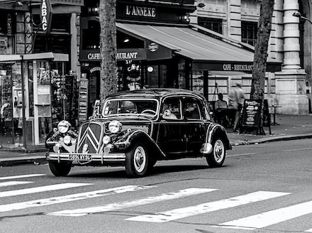 France 2013 Paris 320-Edit - A classic Citroen in a classic city Paris.