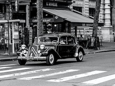 France 2013 Paris 320-Edit - A classic Citroen in a classic city Paris.