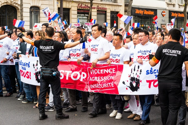 094 - Paris - 11th - Chinese Protest - 04-09-16-8540-Edit - Chinese protest for more protection from Violence, Aggression and Insecurity. A rather well...