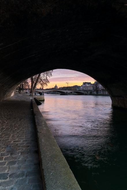 261 - Paris - 1st - 261216-1835-Edit - Taken last night through Pont Royal at sunset
