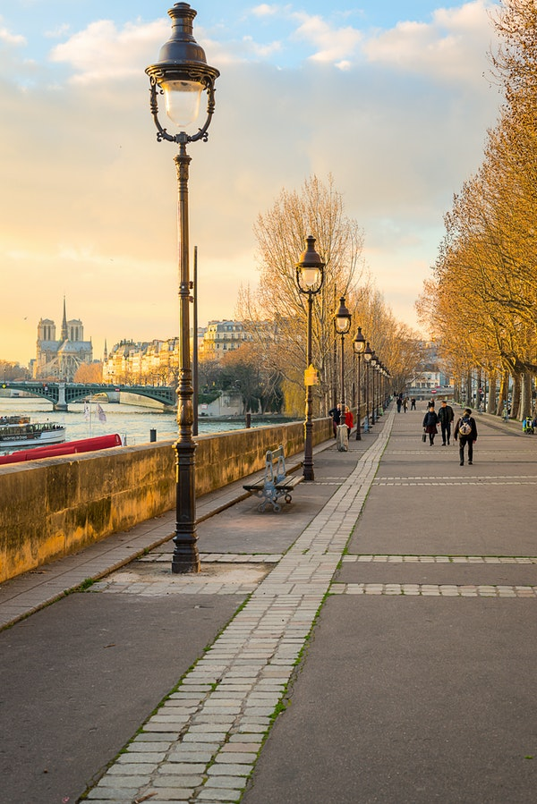 055 - Paris - 4th - 180217-2390-Edit - Quai Henri IV just before sunset