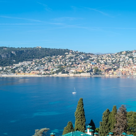 080 - Nice - 103017-7594-Edit - View from the garden of Villa et Jardines Ephrussi de Rothschild nearNice
