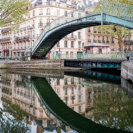 126 - Paris 10th - 200417-3593-Edit - An early morning walk along the Saint Martin Canal