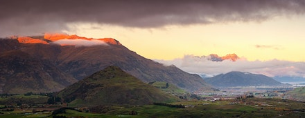 075 - Arrowtown - 120518-0352-Pano-Edit - This image consists of 5 shots, it was taken high above Arrowtown just outside of Queenstown NZ.
