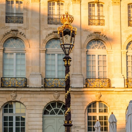 The lamp posts are also very ornate on Place Stanislas - 1072