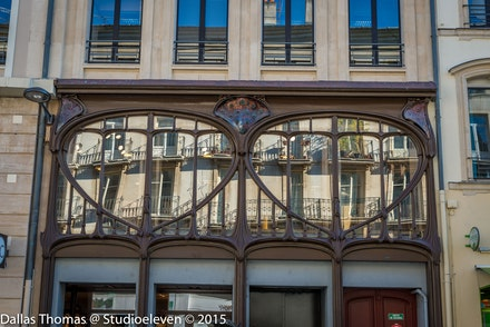 One of the many Art Nouveau building in Nancy - 1124