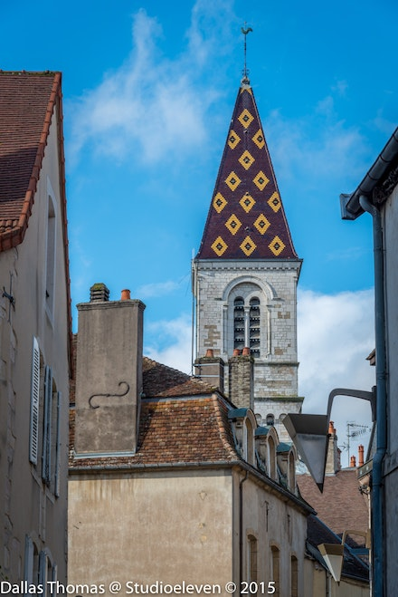 Interesting roof on the church steeple - 1317