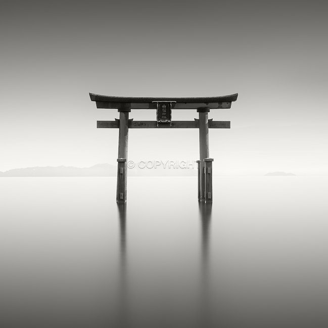 Torii - One of the many beautiful Torii gates and shrines around Japan, this one on Lake Biwa.