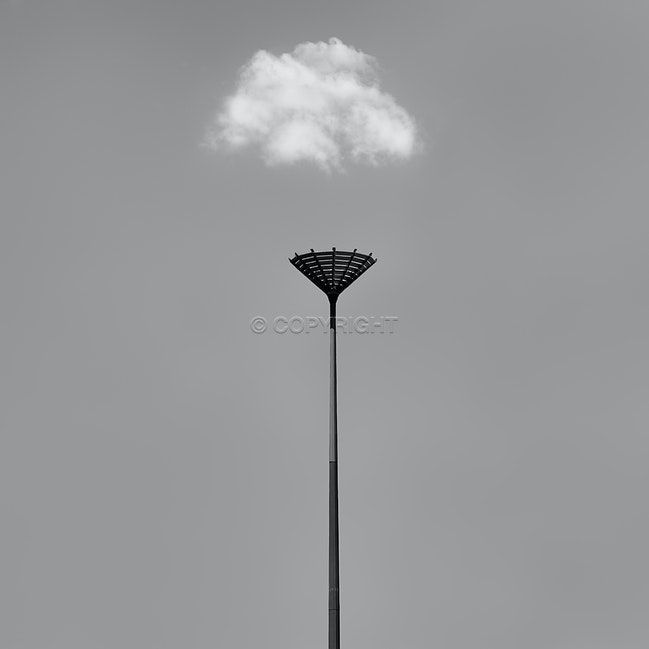 Cloud Catching - A lone structure out in western sydney.