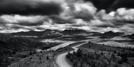 The Razorback - A moody day over looking Razorback ridge in the Flinders Ranges, South Australia.