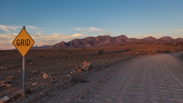Along the track - Afternoon glow of the Elder Range in the Flinders Ranges, South Australia