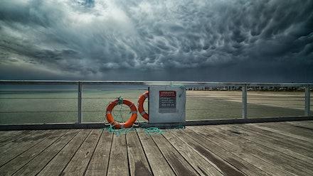 Summer Thunder - A summer storm at Semaphore jetty, Adelaide