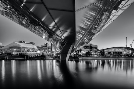 Under the Bridge - The Adelaide footbridge connecting the city to Adelaide Oval
