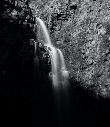 The Light versus the Dark - Morialta Falls, Adelaide as the morning light overtakes the Darkness
