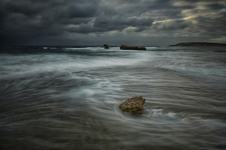 Oncoming  Storm - A Storm approaching Elliston, South Australia.