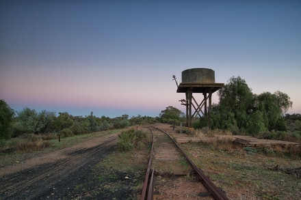 Old Train Station - The old railway line near Silverton N.S.W