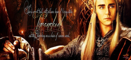 Thranduil with staff - A constructed banner.