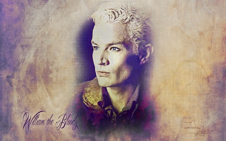 William the Bloody - A pensive Spike from a JM photoshoot. Lightened, brightened and textured and blended in Adobe Photoshop CC2015.