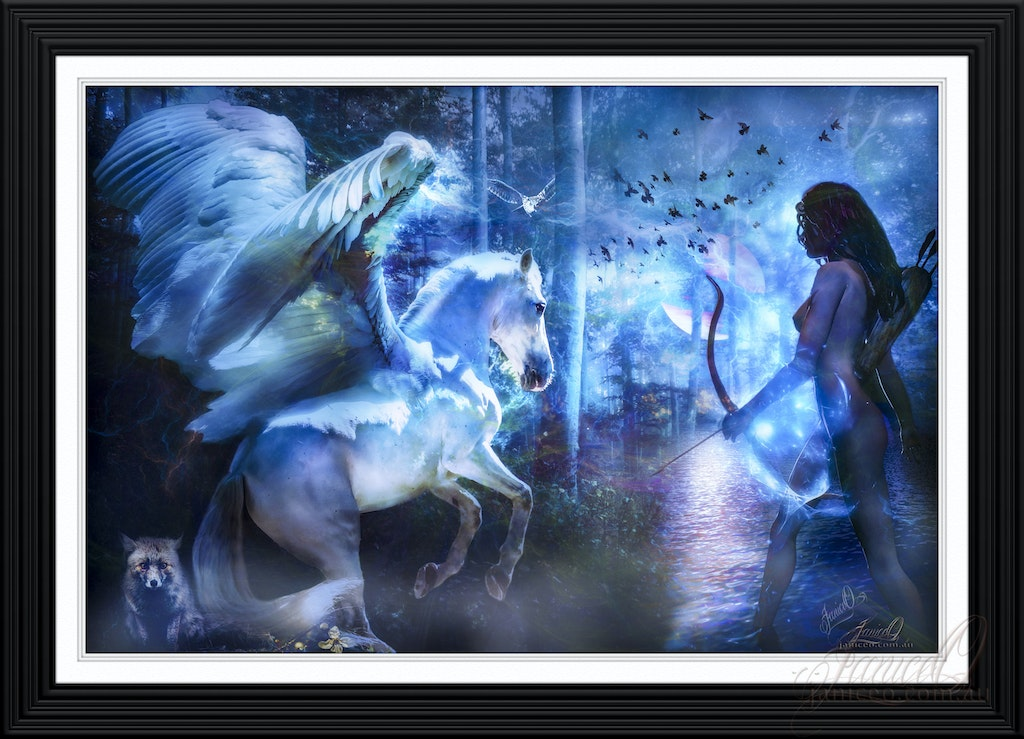 Dreams - Matted and Framed - Dreams - the art of photo manipulation brings fantasy to life.