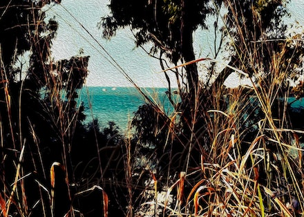 Ocean View - Glimpse of the ocean at Victoria Point in south east Queensland.