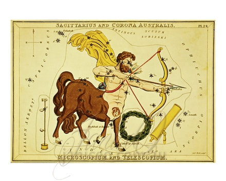 Sagittarius-Large - This image is reproduced from a public domain publication, advertisement, or vintage print. It has been retouched.