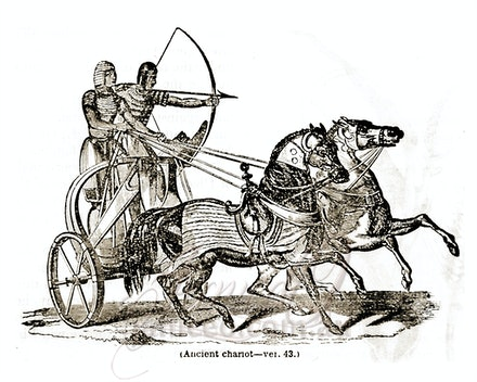 chariot - This image is reproduced from a public domain publication, advertisement, or vintage print. It has been retouched.