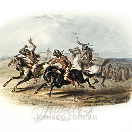 Karl Bodmer Travels in America _30_ - This image is reproduced from a public domain publication, advertisement, or vintage print. It has been retouched.
