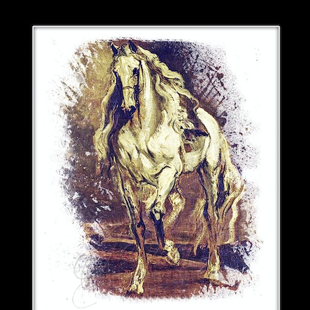 A Grey Horse - A reproduction of Sir Anthony Van Dyck's A Grey Horse - a Sketch