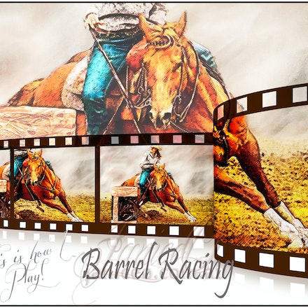 Barrel Racing - I ride, therefore I am. inspirational wall art to brighten your home or office.