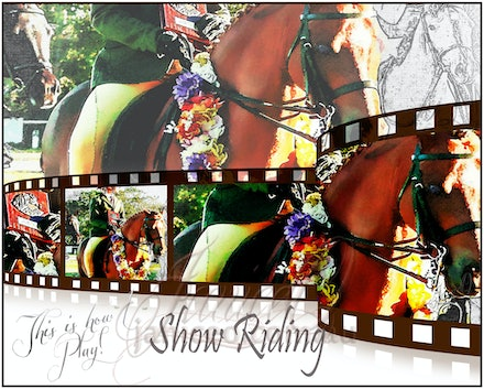 Show Riding - I ride, therefore I am. inspirational wall art to brighten your home or office.