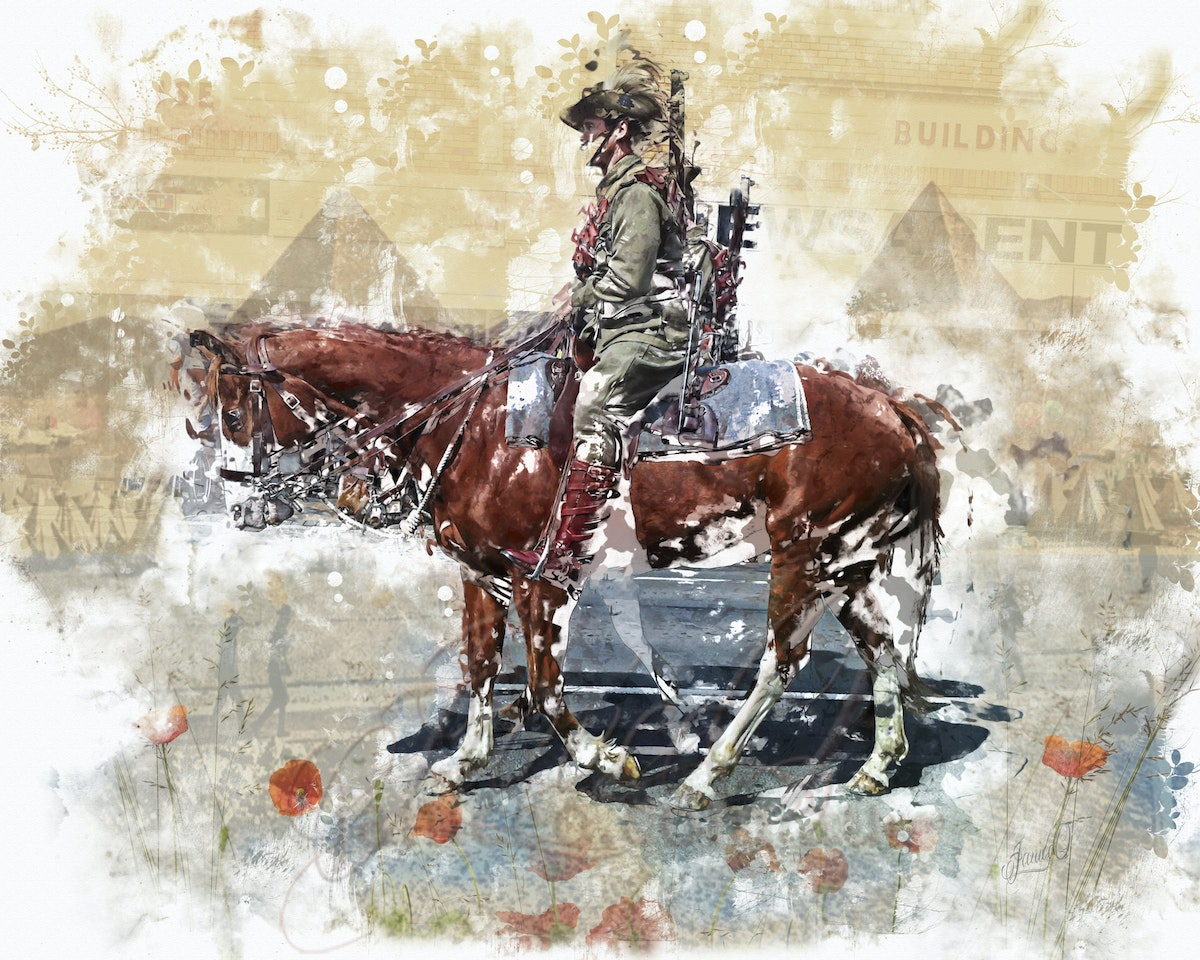 We Remember - Horse and soldier gave their all for their country.  They went with songs to the battle, they were young, Straight of limb, true of eye,...