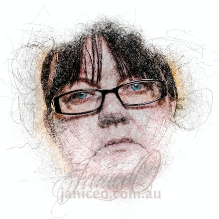 Thoughts of a Woman - Seriously pensive in coloured pencil. Selfies for 100 days