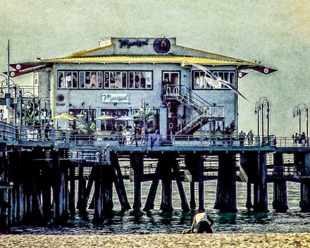 The Mariasol Restaurant - This restaraunt has pride of place at the ocean end of the Santa Monica Pier and was a must visit on our first day in Los Angeles....